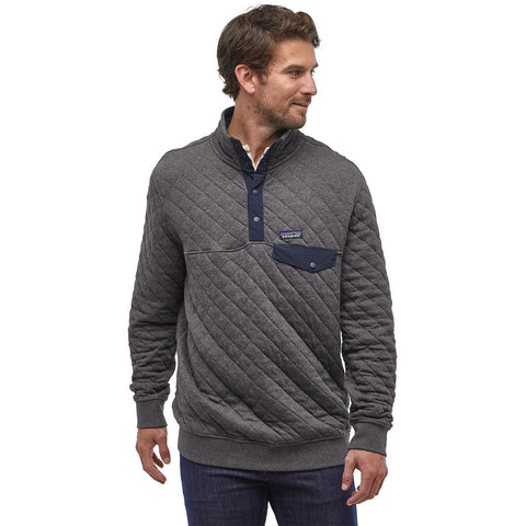 Patagonia Men's Organic Cotton Quilt Snap-T Pullover-25371_Forge Grey