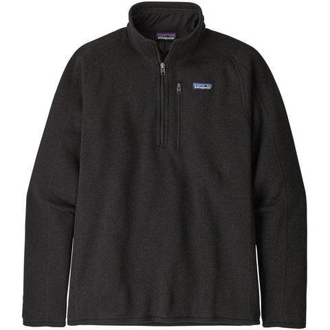 Patagonia Men's Better Sweater 1/4-Zip Fleece-25523_Black