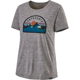 Patagonia Women's Capilene Cool Daily Graphic Shirt-45250_Boardie Badge: Feather Grey