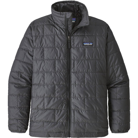 Patagonia Boys' Nano Puff Jacket-68001_Forge Grey w/Ink Black