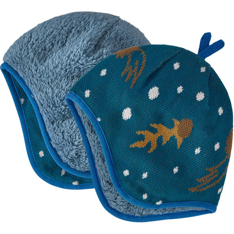 Baby Reversible Beanie - Clearance-Patagonia-Cosmic Dreams Knit: Crater Blue-3-6m-Uncle Dan's, Rock/Creek, and Gearhead Outfitters