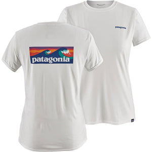 Patagonia Women's Capilene Cool Daily Graphic Shirt-45250_Boardshort Logo: White