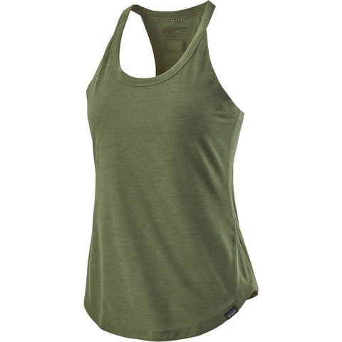 Patagonia Women's Capilene Cool Trail Tank Top-24517_Camp Green
