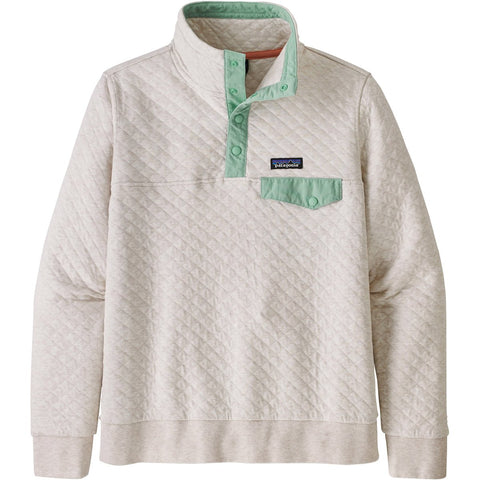 Women's Organic Cotton Quilt Snap-T Pullover-Patagonia-Drifter Grey w/Scotch Pink-XS-Uncle Dan's, Rock/Creek, and Gearhead Outfitters