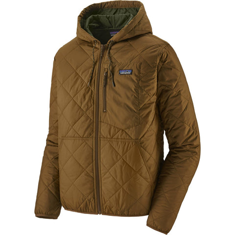 Patagonia Men's Diamond Quilted Bomber Hoody-27610_Industrial Green w/Classic Tan