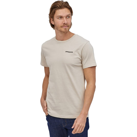 Men's P-6 Logo Organic Cotton T-Shirt-Patagonia-Pumice-S-Uncle Dan's, Rock/Creek, and Gearhead Outfitters