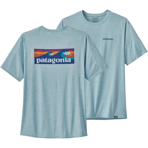 Men's Capilene Cool Daily Graphic Shirt-Patagonia-Fitz Roy Trout: Feather Grey-L-Uncle Dan's, Rock/Creek, and Gearhead Outfitters