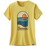 Patagonia Women's Capilene Cool Daily Graphic Shirt-45250_Sunset Sets: Pineapple