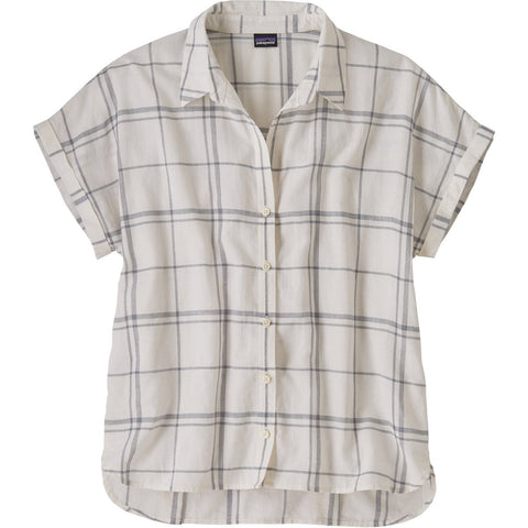 Patagonia Women's Lightweight A/C Shirt-52960_Harvest Windowpane: Berlin Blue