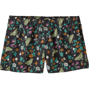 Patagonia Women's Barely Baggies Shorts-57043_Night Pollinators: Black