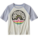 Patagonia Baby Capilene Cool Daily T-Shirt-61265_Bubble Fitz: Birch White