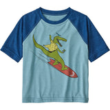 Patagonia Baby Capilene Cool Daily T-Shirt-61265_Later Gator: Big Sky Blue X-Dye