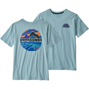 Patagonia Boys' Graphic Organic Cotton T-Shirt-62151_Fitz Roy Rights: Big Sky Blue
