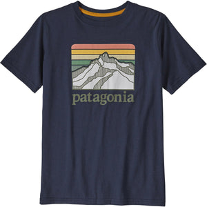 Patagonia Boys' Graphic Organic Cotton T-Shirt-62151_Line Logo Ridge: New Navy