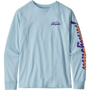Patagonia Boys' Long-Sleeved Graphic Organic T-Shirt-62229_Fitz Script: Big Sky Blue
