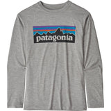 Patagonia Boys' Long-Sleeved Capilene Cool Daily T-Shirt-62395_P-6 Logo: Drifter Grey X-Dye