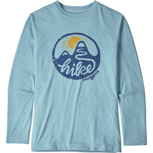 Patagonia Boys' Long-Sleeved Capilene Cool Daily T-Shirt-62395_Switchback Hike: Big Sky Blue X-Dye