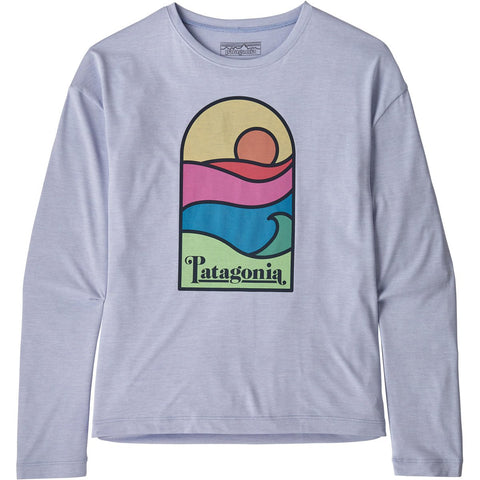 Patagonia Girls' Long-Sleeved Capilene Cool Daily T-Shirt-62400_Sunset Sets: Beluga X-Dye