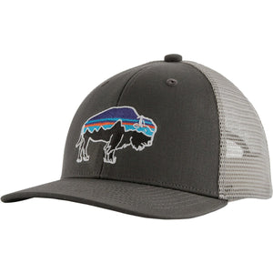 Patagonia Kids Trucker Hat-66032_Fitz Roy Bison: Forge Grey