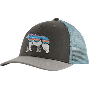 Patagonia Kids Trucker Hat-66032_Illustrated Fitz Bear: Forge Grey