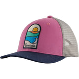 Patagonia Kids Trucker Hat-66032_Sunset Sets: Marble Pink