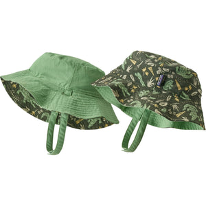 Patagonia Baby Sun Bucket Hat-66076_Alligators and Bullfrogs: Kale Green