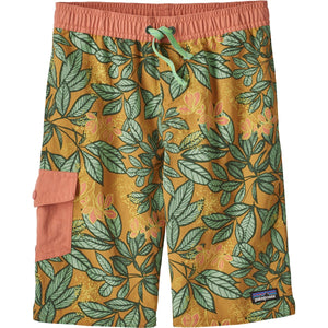 Patagonia Boys' Baggies Boardshorts-67805_Hevea Leaves Big: Prairie Gold