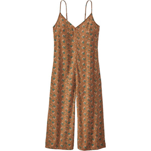 Women's June Lake Jumpsuit - Clearance-Patagonia-Sweet Peas: Umber Brown-XS-Uncle Dan's, Rock/Creek, and Gearhead Outfitters