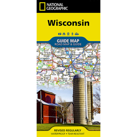 Wisconsin Guide Map-National Geographic Maps-Uncle Dan's, Rock/Creek, and Gearhead Outfitters
