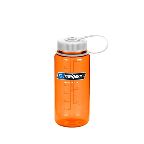 16 oz Wide Mouth Bottle-Nalgene-Orange w/ White Lid-Uncle Dan's, Rock/Creek, and Gearhead Outfitters
