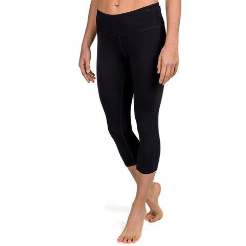 Free Fly Women's Bamboo Cropped Tights-WCT_Black