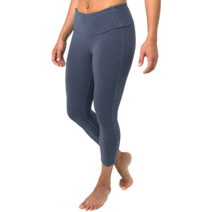 Free Fly Women's Bamboo Cropped Tights-WCT_Blue Abyss