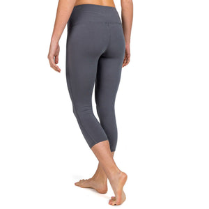 Free Fly Women's Bamboo Cropped Tights-WCT_Charcoal