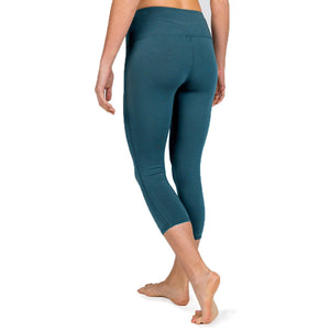 Free Fly Women's Bamboo Cropped Tights-WCT_Storm Blue