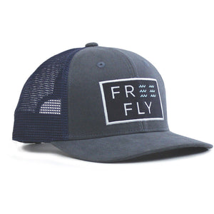 Free Fly Wave Snapback Trucker-SBW_Washed Navy