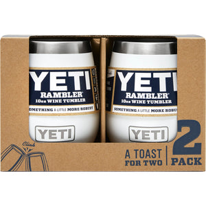 Rambler 10 oz Wine Tumbler 2 Pack-Yeti-White-Uncle Dan's, Rock/Creek, and Gearhead Outfitters