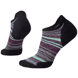 Women's PhD Run Light Elite Striped Micro Socks-Smartwool-Black-M-Uncle Dan's, Rock/Creek, and Gearhead Outfitters