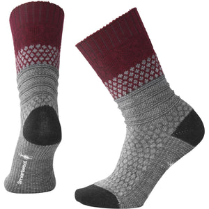 Women's Popcorn Cable Socks-Smartwool-Tibetan Red Heather-M-Uncle Dan's, Rock/Creek, and Gearhead Outfitters