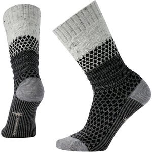 Women's Popcorn Cable Socks-Smartwool-Winter White Donegal-S-Uncle Dan's, Rock/Creek, and Gearhead Outfitters