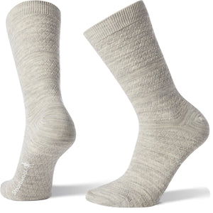 Women's Texture Crew Socks-Smartwool-Ash-S-Uncle Dan's, Rock/Creek, and Gearhead Outfitters
