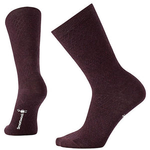 Women's Texture Crew Socks-Smartwool-Bordeaux Heather-M-Uncle Dan's, Rock/Creek, and Gearhead Outfitters