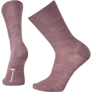 Women's Texture Crew Socks-Smartwool-Nostalgia Rose Heather-S-Uncle Dan's, Rock/Creek, and Gearhead Outfitters