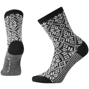 Women's Traditional Snowflake Socks-Smartwool-Black-S-Uncle Dan's, Rock/Creek, and Gearhead Outfitters