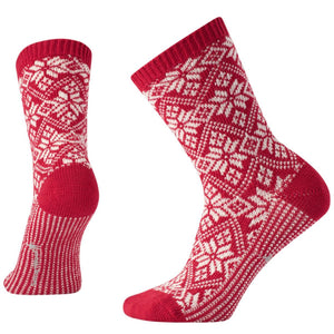 Women's Traditional Snowflake Socks-Smartwool-Crimson-S-Uncle Dan's, Rock/Creek, and Gearhead Outfitters