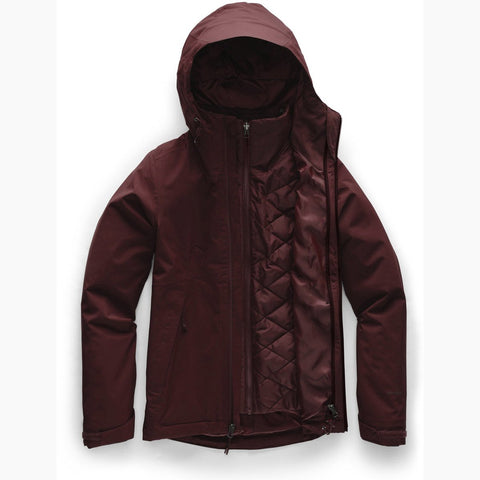 Women's Carto Triclimate Jacket - Clearance-The North Face-Deep Garnet Red-XS-Uncle Dan's, Rock/Creek, and Gearhead Outfitters