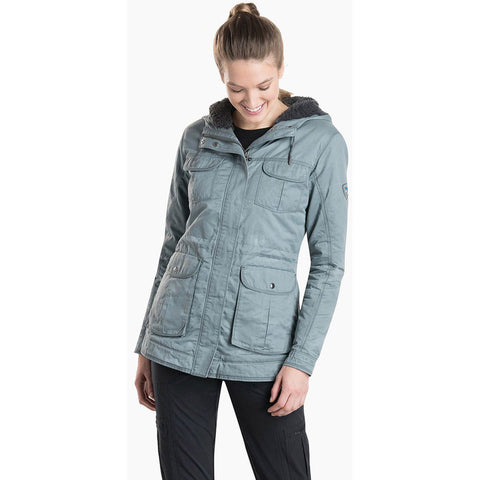 Women's Fleece Lined Luna Jacket-KUHL-Carbon-XS-Uncle Dan's, Rock/Creek, and Gearhead Outfitters