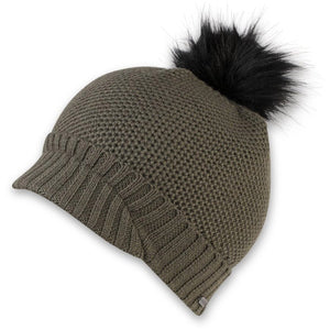 Women's Maddy Knit Brim Beanie-Pistil-Olive-Uncle Dan's, Rock/Creek, and Gearhead Outfitters