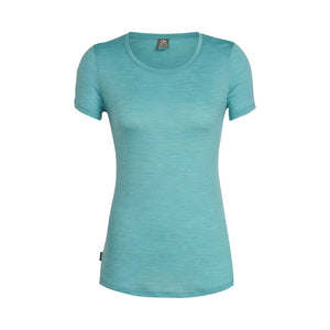 Women's Sphere Short Sleeve Low Crewe-Icebreaker-Ocean Heather-S-Uncle Dan's, Rock/Creek, and Gearhead Outfitters