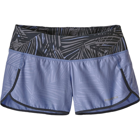 Women's Strider Shorts - 3 1/2 in.-Patagonia-Rain Fern Emboss Light Violet Blue-L-Uncle Dan's, Rock/Creek, and Gearhead Outfitters