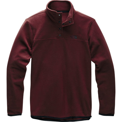 Women's TKA Glacier Snap-Neck Pullover - Clearance-The North Face-Deep Garnet Red/Deep Garnet Red-XS-Uncle Dan's, Rock/Creek, and Gearhead Outfitters